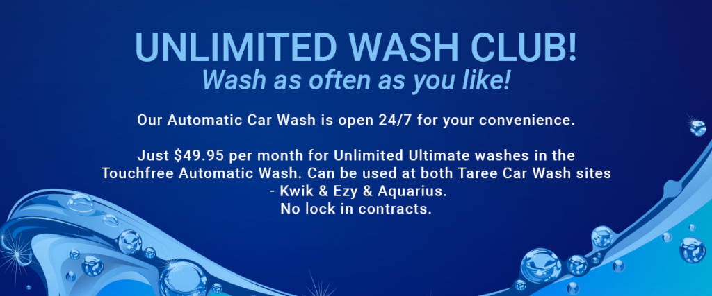 Unlimited Car Wash Club Aquarius Taree